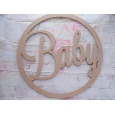 Baby Wall Art Hoop 400mm