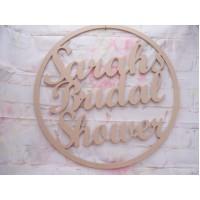6mm MDF Bridal Shower Hoop 580mm