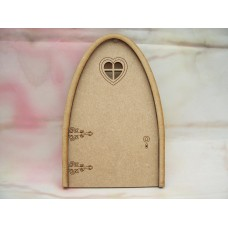 3mm MDF Heart window fairy Door 130mm
