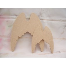 4mm MDF Angel wings Starts at 100mm in size