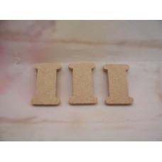 4mm MDF Cotton Reel Shape Starts at 50mm