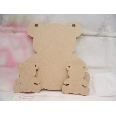 Mdf Teddy Bunting starts at 50mm