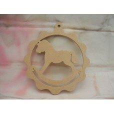 4mm Thick MDF Hanging rocking horse plaque