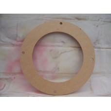 4mm MDF Flower wreath small