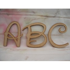 3mm MDF Waltograph Font Upper case From 50mm