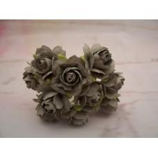 Grey Paper Roses PK10