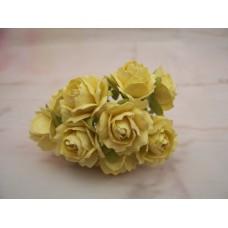 Paper roses Yellow PK10