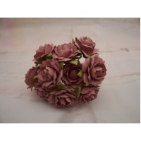Dusty Pink Paper roses PK10