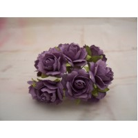 Purple paper Roses PK10