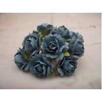 Mid Blue paper Roses PK10
