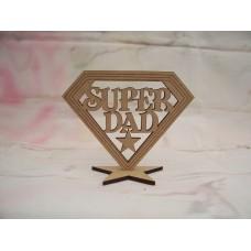 SUPER DAD Plaque 100mm