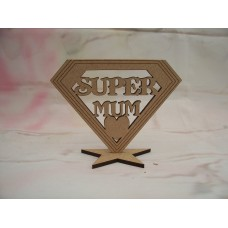 SUPER Mum Plaque 100mm