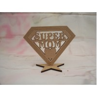 SUPER MOM Plaque 100mm