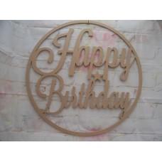 Happy Birthday Hoop 580mm