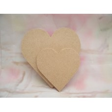 4mm Thick MDF Heart No holes start at 50mm