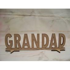 Standing Grandad Plaque 200mm