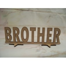 Standing Brother plaque  180mm