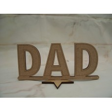 Standing Dad plaque 120mm
