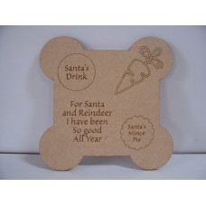 Santa treat plaque / plate 145mm