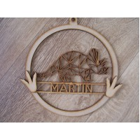 Triceratops Personalised hoop Dream catcher