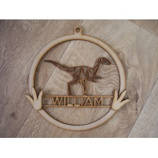 T REX Dream catcher Hoop PERSONALISED