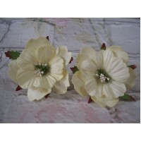 Paper Peonies Yellow Pack Of 5