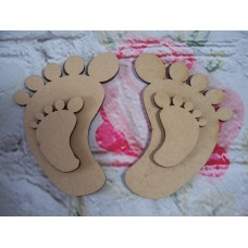 3mm MDF Baby Feet from 50mm in size