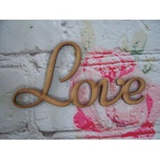MDF Love Plaque Script Font Starts at 100mm