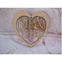 Mr and MR wedding Heart starts at 150mm