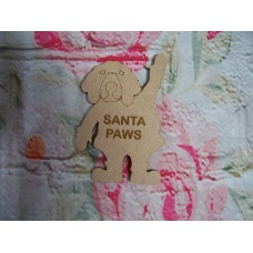 Santa paws Dog Plaque 100mm