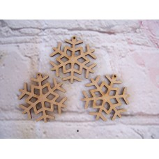 Snowflake baubles starts at 50mm PK5