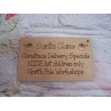 Santa Sack tags / labels