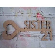 MDF Age Key 18/21 Sister