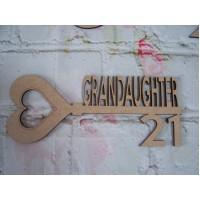 MDF Age Key 18/21 Grandaughter