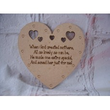 Sentiment Heart When God Created Mothers