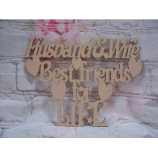 Husband and Wife plaque 290mm