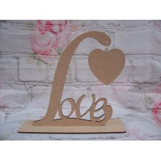 Standing Love Plaque with Heart