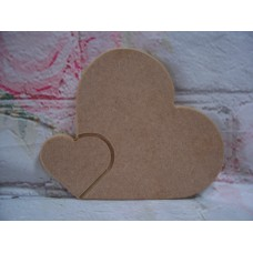 18mm MDF Engraved heart 130mm tall