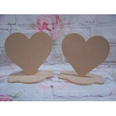 6mm MDF Heart on a base 150mm in size
