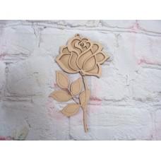 3mm MDF Rose Layered