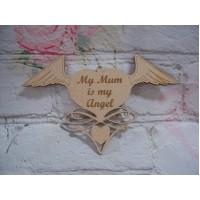 3mm MDF Angel wings My Mum