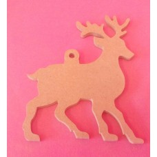 4mm MDF Plain Reindeer with loop starts at 100mm