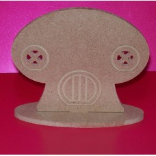 4mm Thick MDF Standing Toadstool house 100mm wide  pack of 3