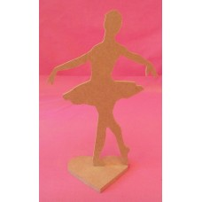 4mm Thick Ballet Dancer on a Base 150mm tall