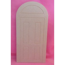 6mm MDF large Fairy/House Front Door with rounded top x3