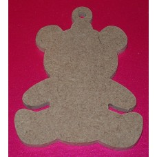 MDF Teddy Bear 100mm in size pack of 3