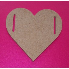 4mm Thick MDF Heart with side slots 65mm size pack of 5