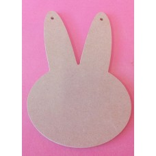 4mm MDF Rabbit Head at 100mm pack of 3