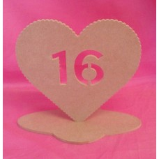 4mm MDF Standing age heart age 16