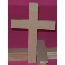 6mm Thick MDF plain Cross 150mm High